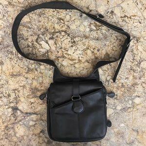 AmeriBag Black Leather Crossbody Bag